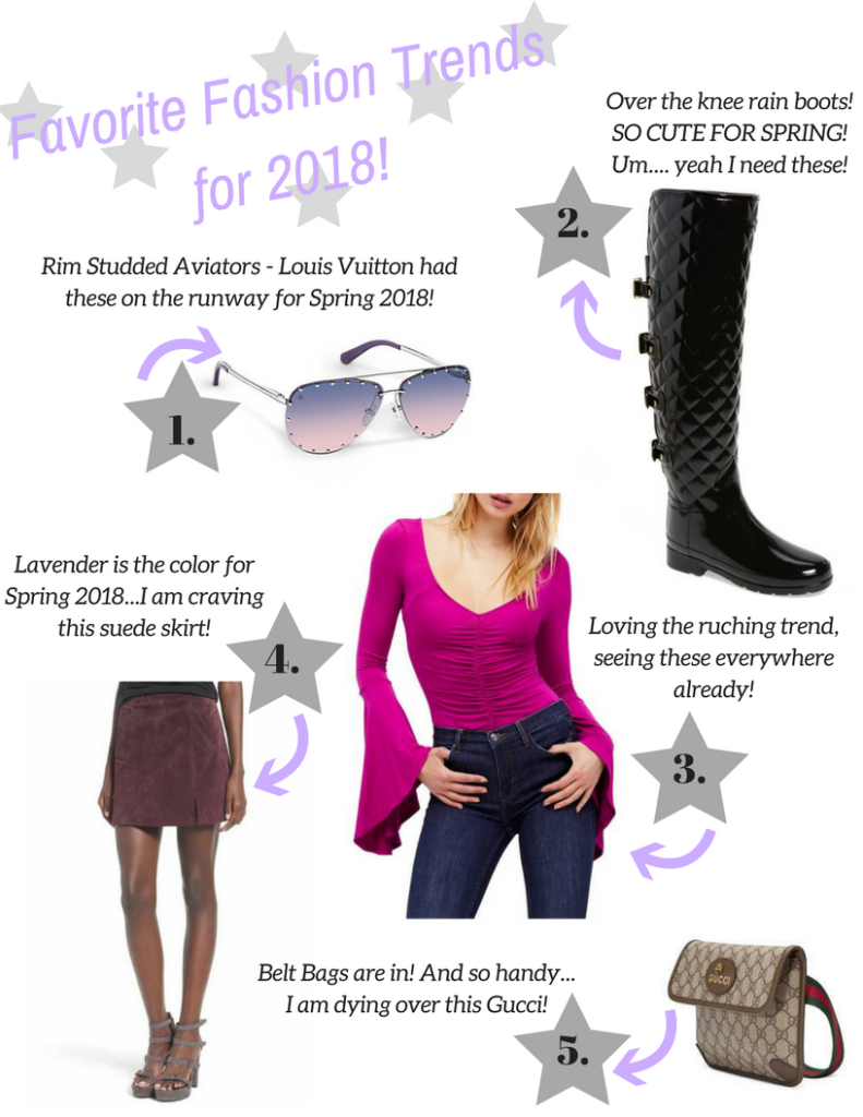 Favorite Fashion Trends for Spring 2018
