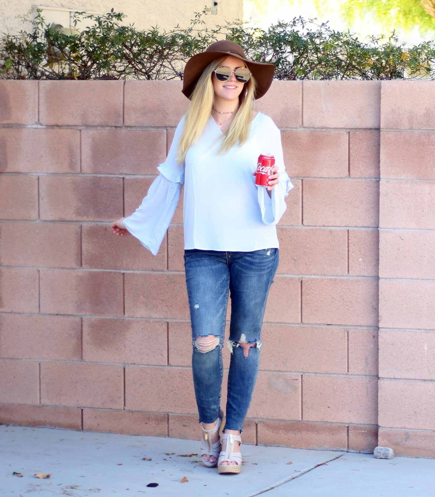Spring Outfit: Floppy Hat