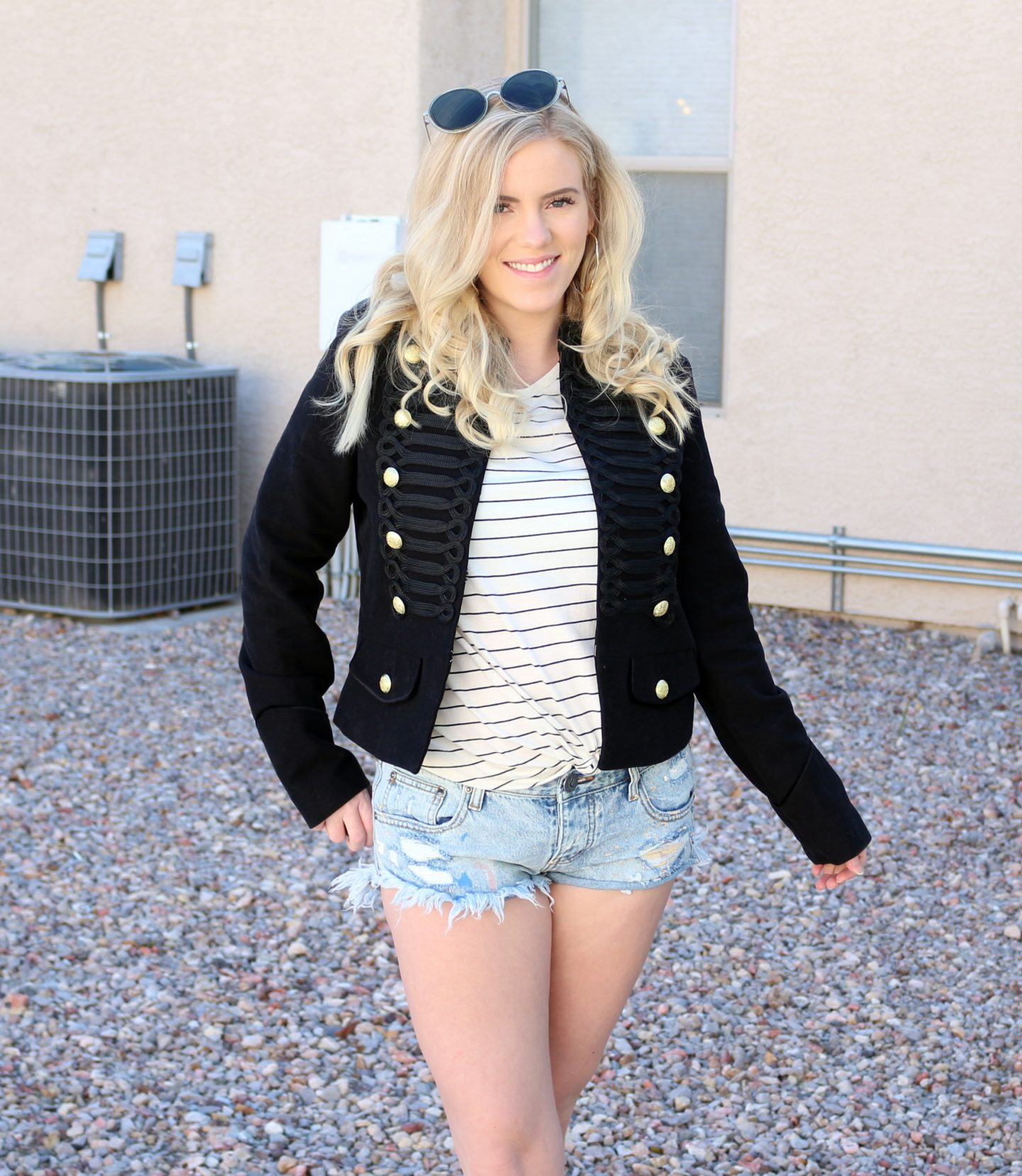 Band Jacket; Spring Transition Outfit