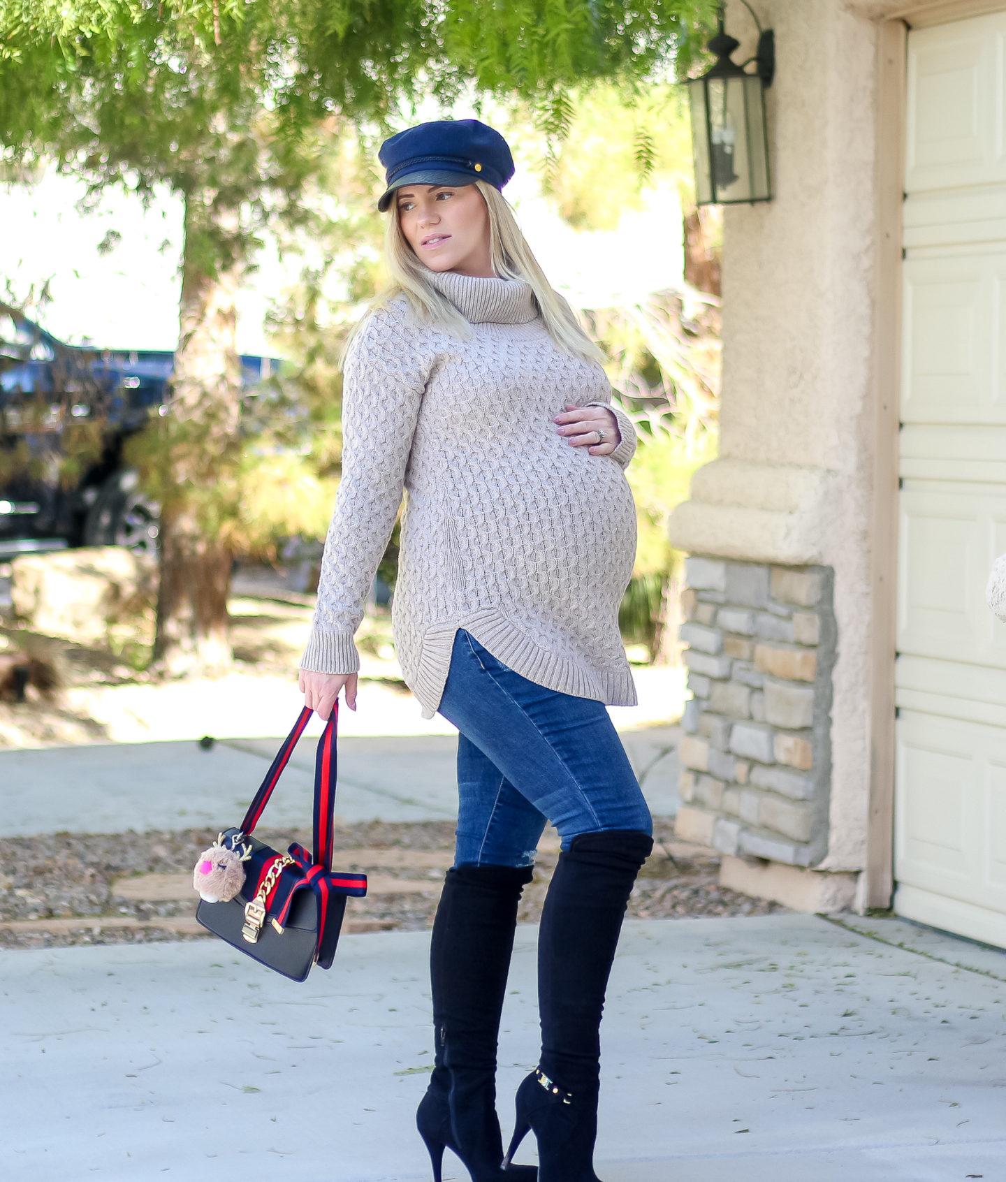 b9e5400c80ef8 Holiday Style || Cute Winter Fashion with Motherhood Maternity